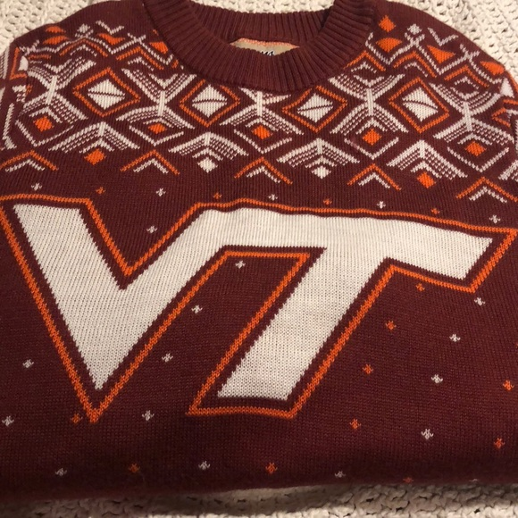 Campus Specialties Sweaters Virginia Tech Mens Christmas Sweater